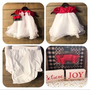 Rare editions 12 months Christmas christening dres